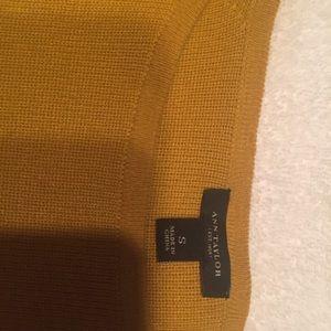 Annt Taylor S. Mustard crop sweater